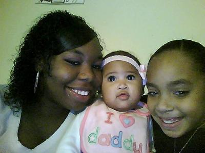 my antie me and my baby cousin